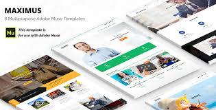 maximus responsive multi purpose adobe muse template by maximustheme