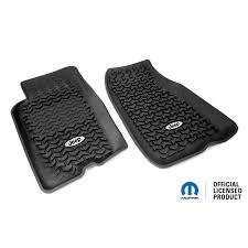 jeep logo black rugged ridge dmc 12920 26 floor liners front black jeep logo
