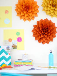 Paper Home Decor Easy Diy Craft Paper Dahlias Hgtv