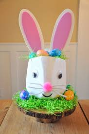 easter bunny baskets bunny milk jug basket