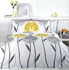 Yellow Grey And White Bedding Yellow Duvet Cover Double Uk Allium Floral Duvet Cover