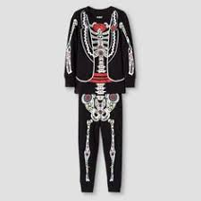 women u0027s day of the dead halloween pajamas black multicolor xxl