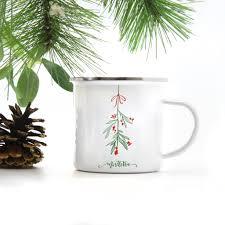 christmas mistletoe christmas mistletoe coffee mug two peas designs