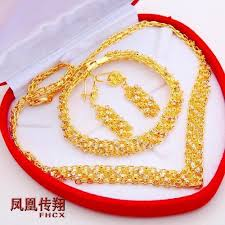 gold plated necklace wholesale images Wholesale bride wedding set of gold plated necklace jewelry jpg