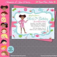 sleepover party invites spa party invitation sleepover makeover spa day invitation