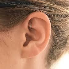 earrings all the way up 1 4 plain ring earlobe earrings