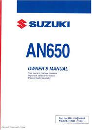 28 2007 suzuki burgman 650 owners manual 110030 2007 suzuki