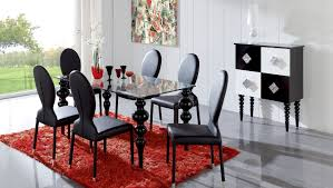 Black Dining Table Dining Room Contemporary Black Dining Room Sets With Round Shape