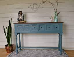 decoration long hallway table with long six drawer blue hall table
