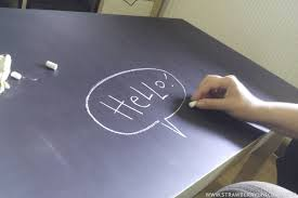 how to make a fun chalkboard from a lack coffee table ikea