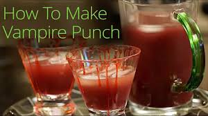halloween vampire punch recipe youtube