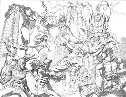 dc versus marvel by mannixfrancisco lineart marvel u0026 dc