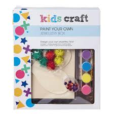 kids u0027 art u0026 craft kids craft paint your own jewellery box the