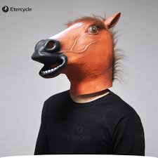 horse halloween party aliexpress com buy scary brown horse head masks animal full face