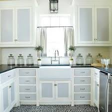Two Tone Painted Kitchen Cabinet Ideas Kitchens Two Tone Silk Curtains Design Ideas