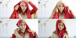 tutorial hijab pesta 2 kerudung tutorial hijab 2 lapis dengan pita untuk percantik penilanmu