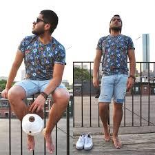 Cheap American Eagle Clothes Christian Jiménez Hollister Flowers Pattern Shirt Hollister