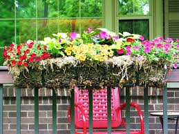 planters deck railing planter boxes corner flower lowes railing
