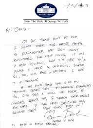 bush u0027s personal letter to obama huffpost