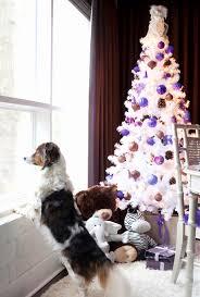 white purple copper pine cone retro style tree