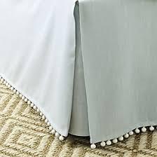 Burlap Bed Skirt Fringed Burlap Bedskirt Ballard Designs