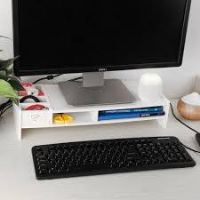wpc keyboard rack computer monitor desktop rack organizer storage