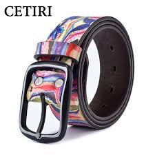 colorful designer women men jeans designer belts colorful graffiti printed real