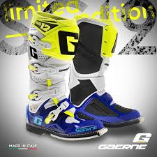 motocross boots kids 2016 gaerne limited edition sg12 motocross boots blue white