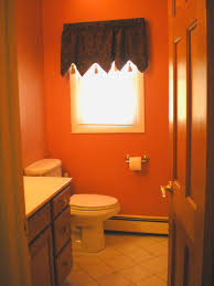 inspirations small guest orange bathroom painting ideas with