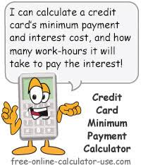 Formula Credit Card Minimum Payment Credit Card Minimum Payment Calculator With Habit Busting Feature