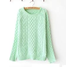 knitted sweater mint green knitted sweater nfjt0072 on luulla