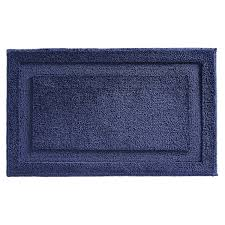 Navy Bath Mat Interdesign Microfiber Spa Bath Rug Kettle Cord