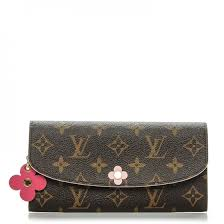 bloom wallet louis vuitton monogram bloom flower emilie wallet 194763