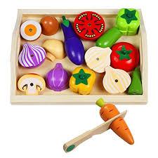 jeu cuisine enfant fruits et légumes jouets à découper bois jeu magnétique enfant jeux