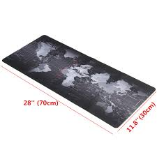 Map Pad 700x300x3mm Large Size World Map Mouse Pad For Laptop Computer