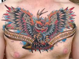 austintimberlake6 owl chest antlers cincinnati tattoo owl color