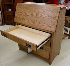 Large Secretary Desk by Mission Large Secretary Desk With File Drawer Amish Traditions Wv