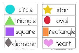 shape preschool printables