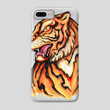 traditional japanese tiger illustration a phone by bernardo