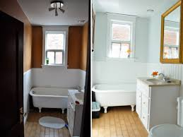 shoestring makeover my dark bathroom gets a bright makeover with