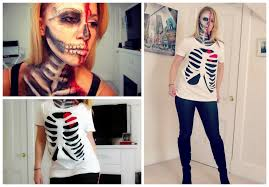 halloween tees for kids diy halloween skeleton rib cage shirt youtube