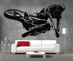 motocross kawasaki motorbike vinyl sticker wall art boys bedroom motocross kawasaki motorbike vinyl sticker wall art boys bedroom garage