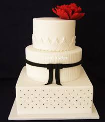 black and white wedding cake with large red peony cakecentral com
