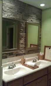 stone wall bathroom home design ideas