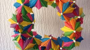 How To Make Paper Umbrellas - make a paper umbrella wreath home guidecentral