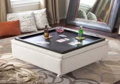 awesome table ottoman diy tufted ottoman from an old kithen