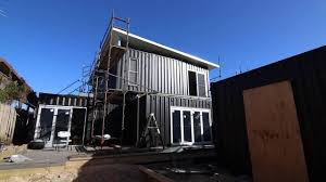 two story container home install youtube