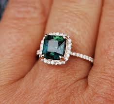 blue green rings images Peacock sapphire engagement ring 3 6ct square cushion cut blue jpg
