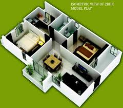 2 Bhk Home Design Layout by 100 2bhk House Plans 2 Bhk Study 1399 Sq Ft Floor Plan