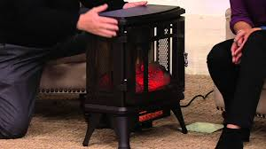 duraflame infrared quartz stove heater with flame effect on qvc